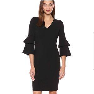 NWT Calvin Klein Ruffle Sleeve v-neck Dress size10